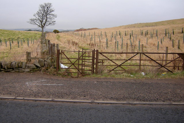 View of Footpath that leads from the B9128 to the Forfar / Arbroath Road (A932)