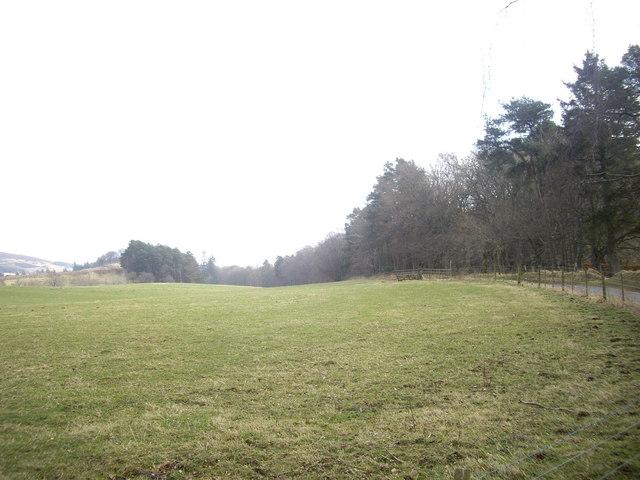 View ENE from Haugh of Glass war memorial