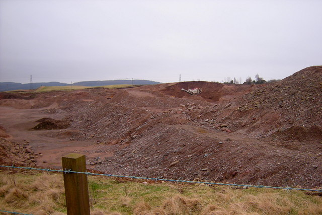 Quarrying Operations to the east of the Footpath from the B9128 to the A932