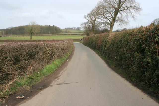 Road between Galgate and Condor Green