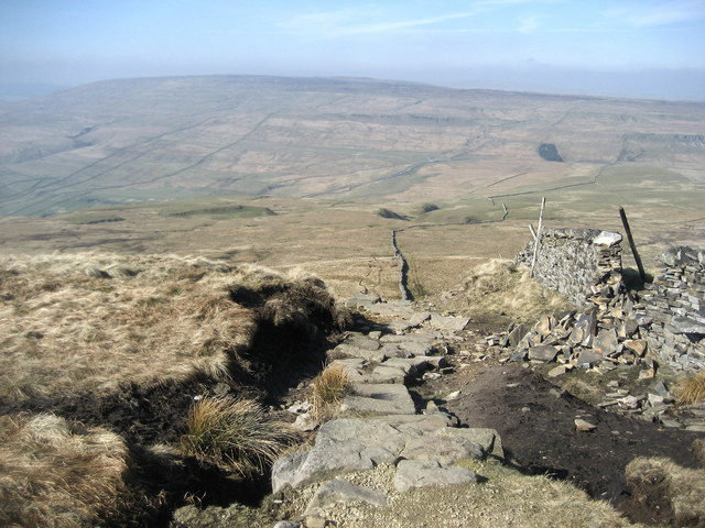 Descent off Buckden Pike