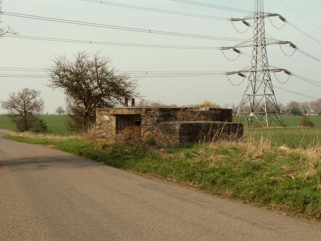 A Pillbox just north of Allen's Green