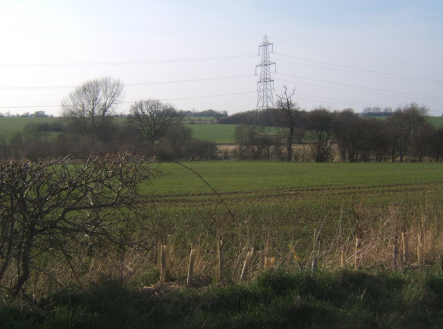 Countryside west of Clockhouse Lane