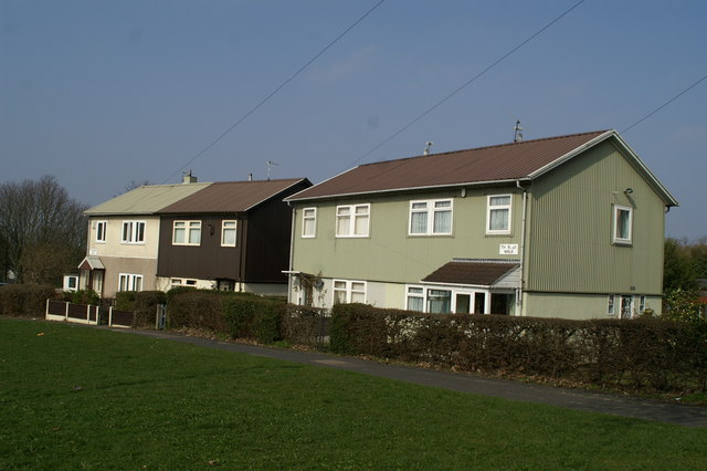 Prefabs off Fouracres Road
