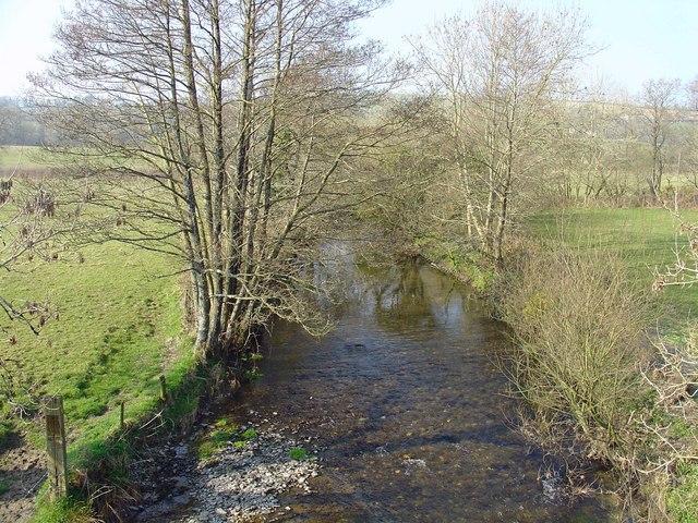 Afon Cywyn near Llys Onnen, Meidrim