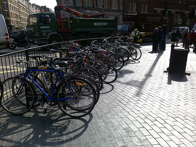 Bikes in Cambridge Circus