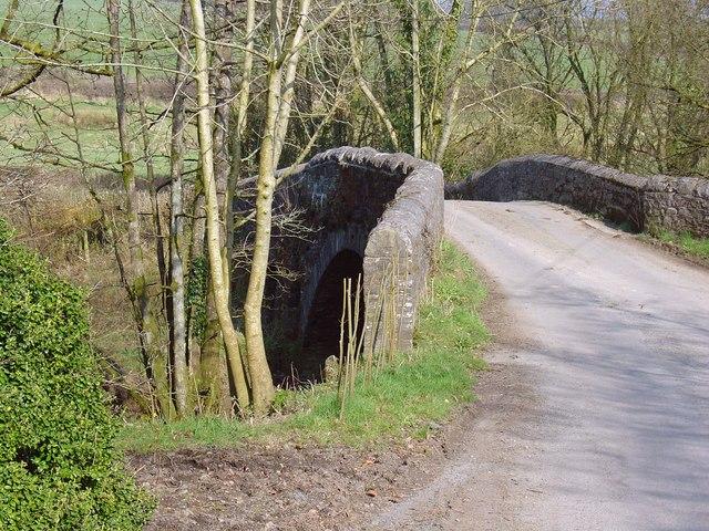Bridge over Afon Cywyn: Rhyd-aber-wern, Meidrim