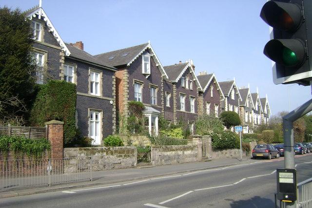 Blue brick houses, Emscote Road, Warwick