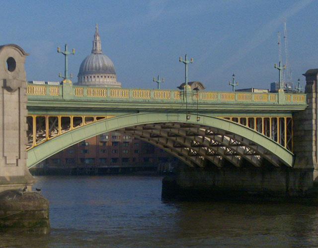 Southwark Bridge and St Paul's