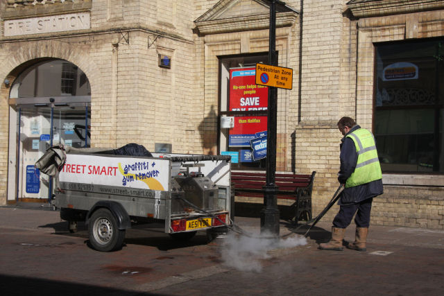 Street cleaning, Bury St Edmunds