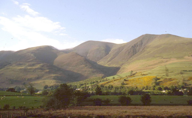The Skiddaw range in late afternoon autumn sun