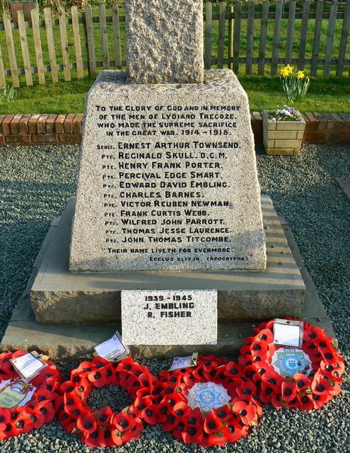 War memorial inscription, Hook