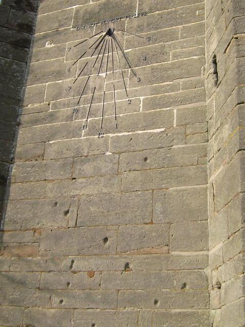 Sundial and English Civil War scars