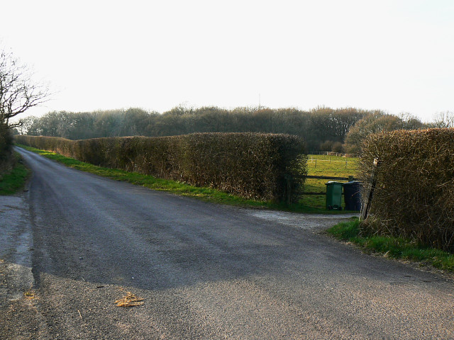 The road to Flaxlands from Hook