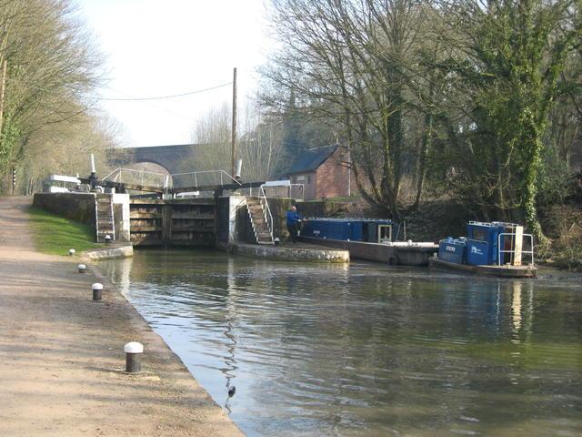 Maintenance boats at Radford Bottom Lock
