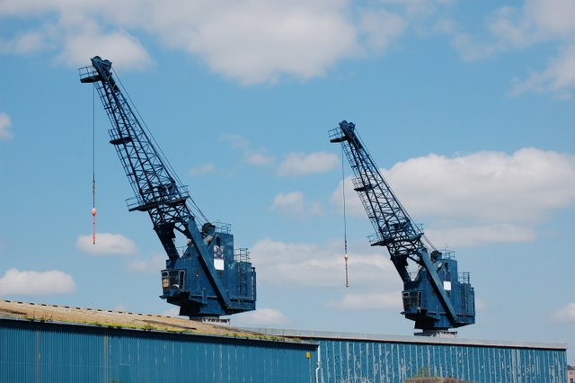 Cranes at Methil Docks