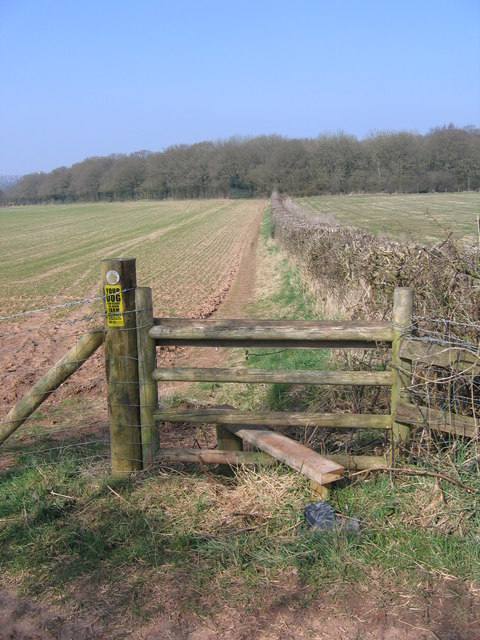 Public Footpath To Kettles Wood, Frankley