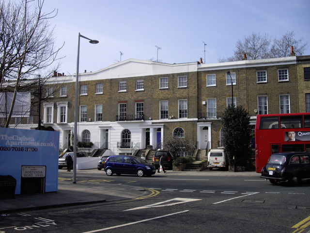 Junction of Hortensia Road and Fulham Road