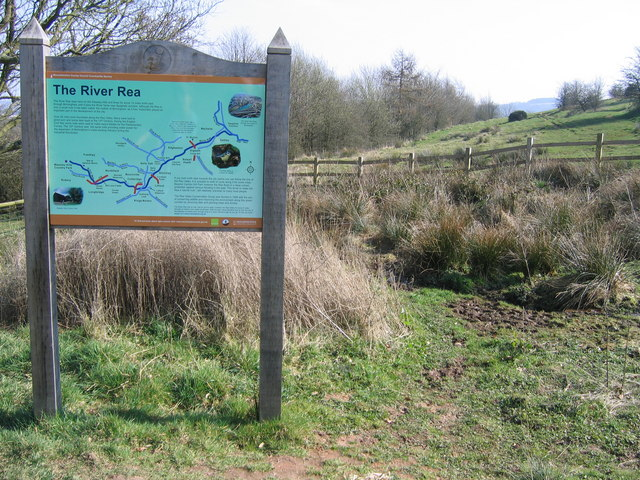 Notice Board at Source of River Rea.