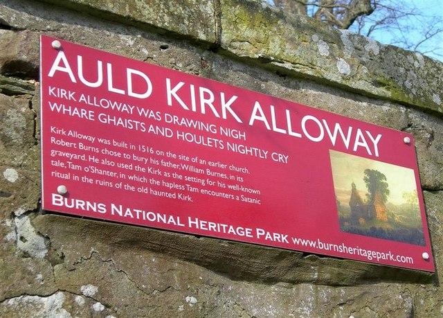Auld Kirk Alloway Information Board