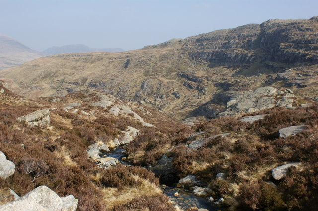 Looking down a tributary to Nant Gwern y Gof