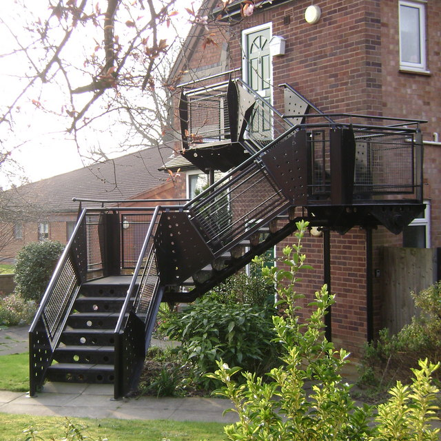 Outside stairs, All Saints Road, Warwick