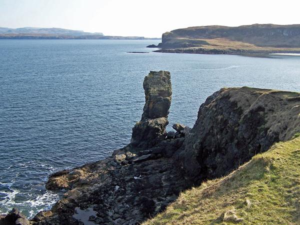Sea stack near Harlosh Point