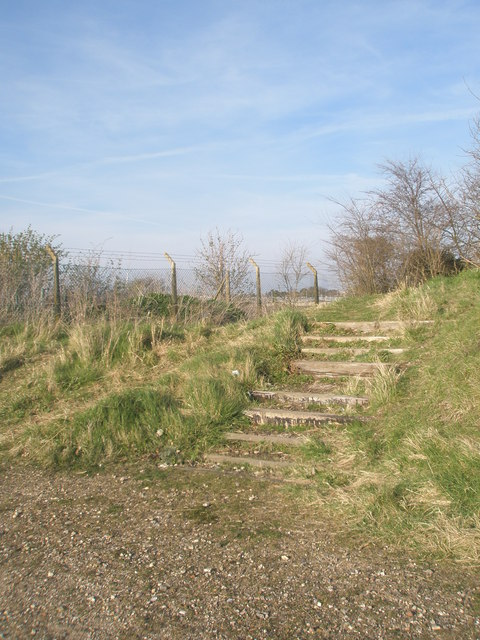 Steps up from Budds Wall to the Sewage Farm