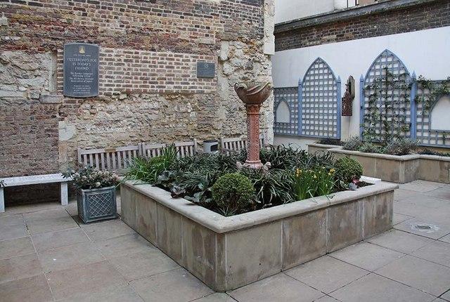 St Ethelburga, Bishopsgate, London EC2 - Memorial garden