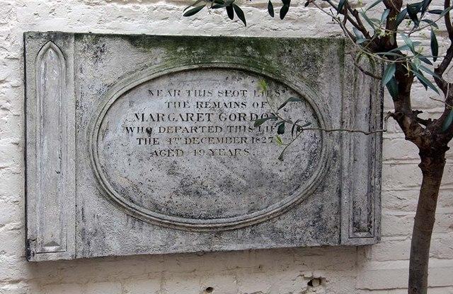 St Ethelburga, Bishopsgate, London EC2 - Wall monument in Memorial Garden