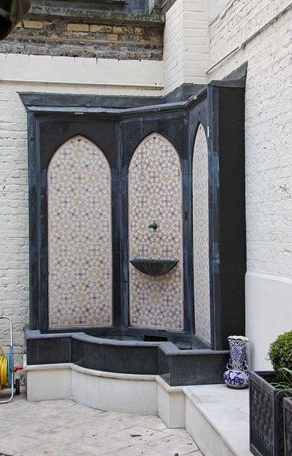 St Ethelburga, Bishopsgate, London EC2 - Fountain in Memorial Garden