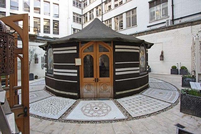 St Ethelburga, Bishopsgate, London EC2 - Prayer Tent in Memorial Garden