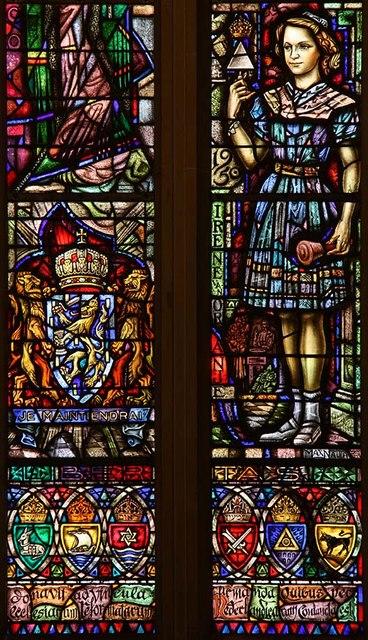 The Dutch Church, Austin Friars, London EC2 - West window detail
