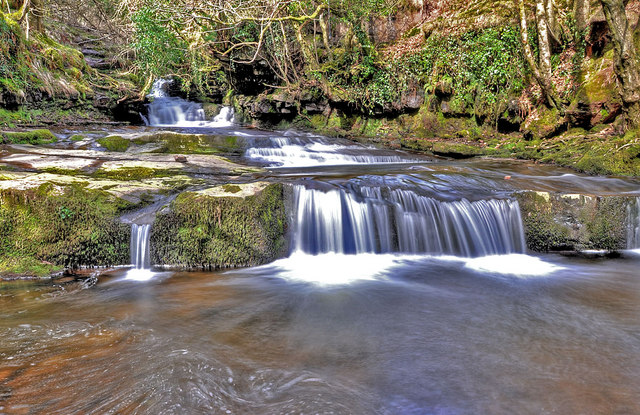 Waterfalls on the Caerfanell