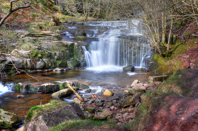 Waterfall on the Caerfanell