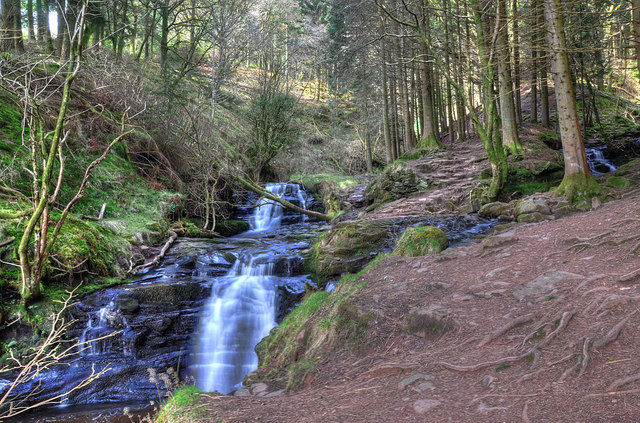 Waterfalls on the Nant Bwrefwr