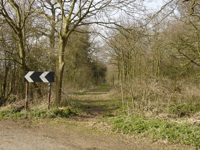 Bridleway leading to Maple Tree farm