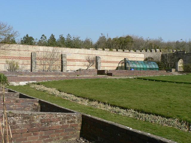 Walled garden, Dunraven Castle.