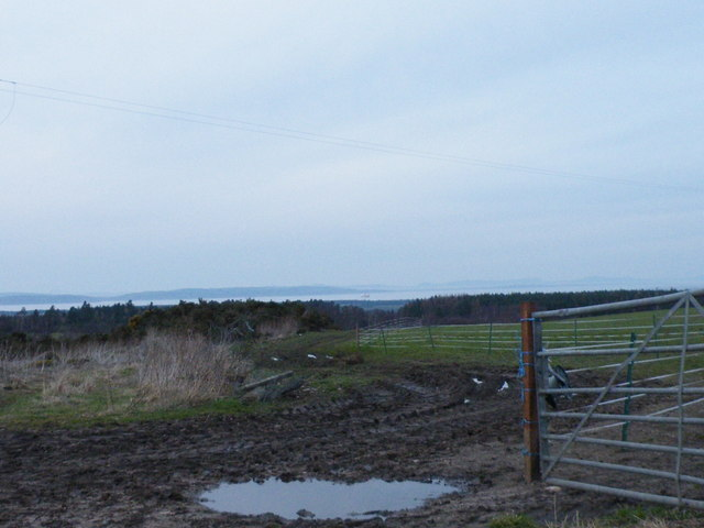 Looking over Moray Firth from near Little Urchany