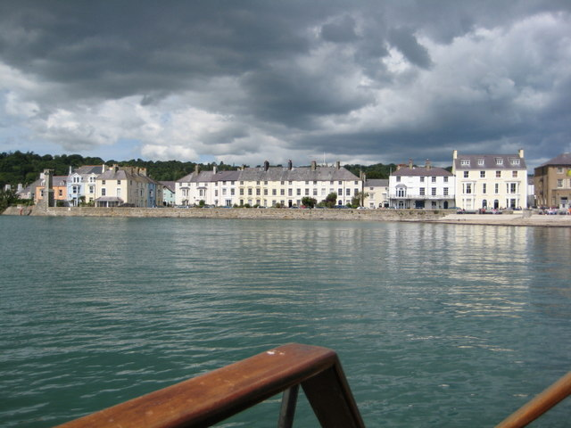 Sea front terrace at Beaumaris