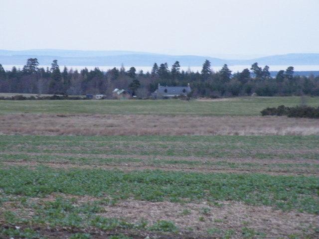 Whinhill across farmland