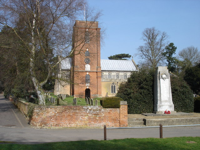 The church and war memorial, Grundisburgh