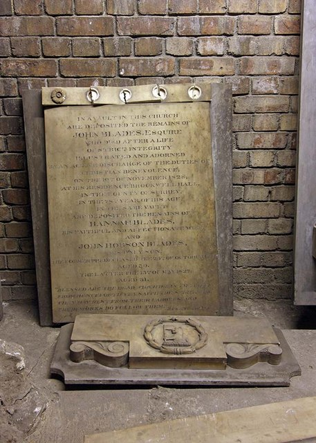 St Bride, Fleet Street, London EC4 - Monument in crypt