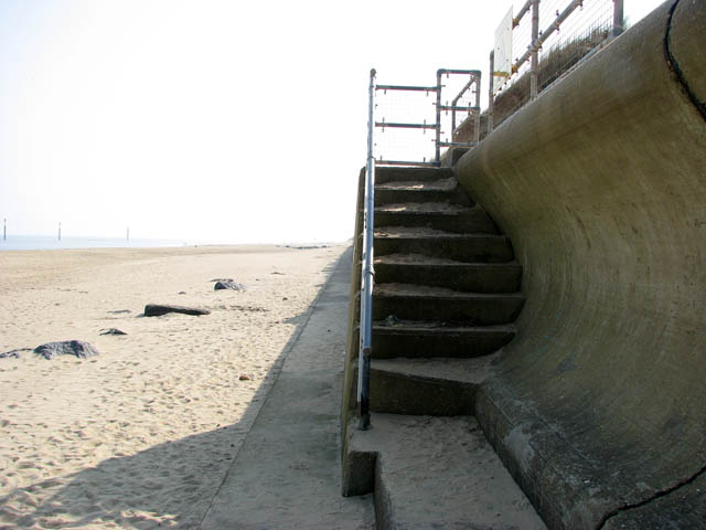 Steps in sea wall