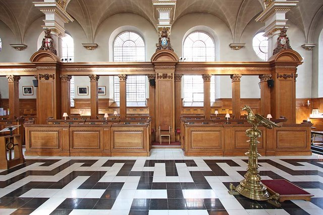 St Bride, Fleet Street, London EC4 - North side of nave