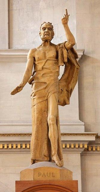 St Bride, Fleet Street, London EC4 - Statue of St Paul