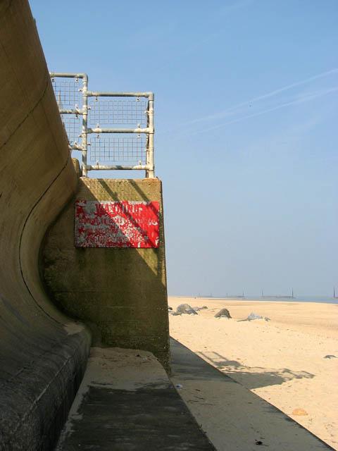 Steps in sea wall