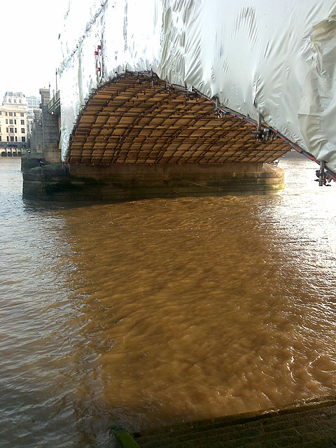 Southwark Bridge Wrapping