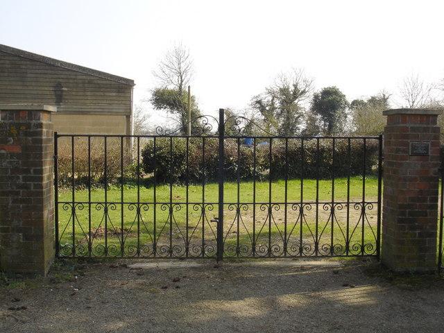 Gates to Playford churchyard
