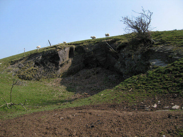 Small disused quarry